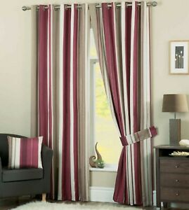 Whitworth Eyelet Ready Made Lined Curtains Claret *CLEARANCE PRICE*