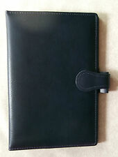 NEW WESTMINSTER HANDMADE NAVY LEATHER STANDARD PERSONAL FILE ORGANISER DIARY