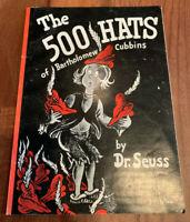 The 500 Hats of Bartholomew Cubbins Dr. Seuss First 1966 Print Scholastic SC/PB