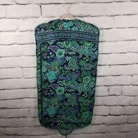 Vera Bradley Hanging Garment Travel Bag Luggage Floral Paisley Green Blue Purple