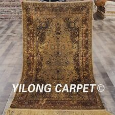 YILONG 3'x5' Handknotted Antique Silk Carpet Ancient Authentic Rug YL22H