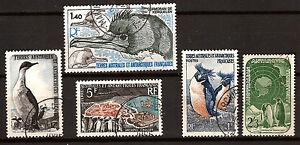 French/Australian Antartic Used Stamps #3-14-24-79-L5 Albatros, Penguins 82M539