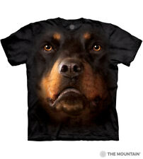 The Mountain 100% Cotton Adult Black T-Shirt - Rottweiler Face Sizes L-XL NWT