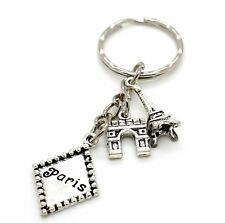 Paris France Eiffel Tower Arc De Triomphe Keyring Gift Idea Souvenir Gift Idea
