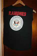 Ramones Tommy Johnny Joey Deedee Women's Bravado Black Sleeveless Shirt Size XL