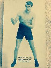 Bud Taylor Fort Wayne Indiana Bantanweight Exhibit Supply Co Boxer Postcard UG