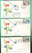 FDC ITALIA REPUBBLICA 1961 Presidente Gronchi 3 Buste EDIZIONE MILVIO VEDI FOTO