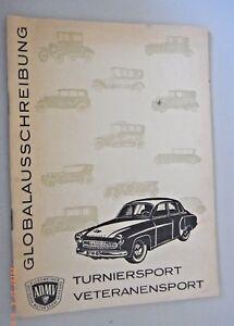 Turniersport Veteranensport /Globalausschreibung ADMV DDR GDR ab 1964