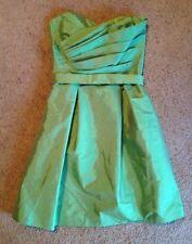 Alfred Sung Strapless Dress Formal Silk blend Prom Bride Bridesmaids Green sz 10