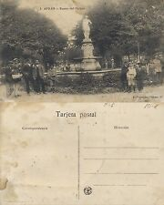 Tarjeta Postal. 3. Avilés. Fuente del Parque.