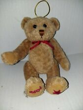 Vintage Gund Macy's New York Brown Teddy Bear Jointed Plush 7""