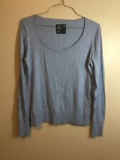 American Eagle Outfitters Heather Blue Long Sleeve Sweater Lightweight Size XL