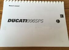 DUCATI 996 SPS OWNERS MANUAL CATALOGUE 1999 paper bound copy.