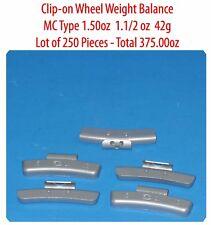500 Pcs ZN CLIP-ON Wheel Weight Balance MC Type 1.50oz 1.1/2oz  42g Total 750 oz