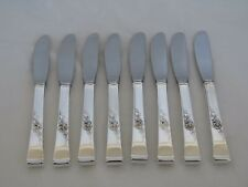 Set of 8 Reed & Barton Sterling Silver Classic Rose Butter Spreaders BI-31