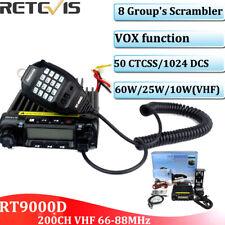 Retevis RT-9000D VHF 66-88MHz Mobile Car Ham Radio 200CH CTCSS/DCS 25W