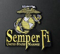SEMPER FI USMC MARINE CORPS US MARINES EMBROIDERED PATCH 4 x 4 INCHES