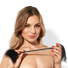 Dual Flogger Whip Feather Tickler Role Play Hen Party Fancy Dress Costume Slave