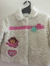Pre-Owned Dora The Explorer Girls Faux Fur Coat Size 4