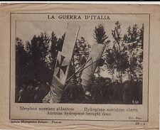 #LA GUERRA D'ITALIA: PROPAG.1 GUERRA FOGLIETTO IDROPLANO AUSTRIACO ABBATTUTO WWI