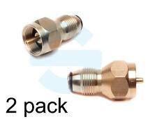 2 Pack Propane Refill Adapter Lp Gas Cylinder Tank Coupler Heater 1 lb. Brass