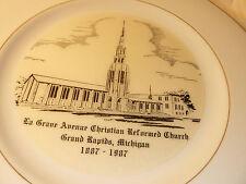 NEW in Box RARE 1987 LaGRAVE AVENUE CRC CHURCH 100th Anniv. PLATE Grand Rapids