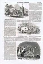 1850 Gujarat Village Cart Roasting Beef By Gas Exeter Great Stanmore New Church