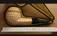 Meerschaumpfeife 9mm Filter - S. YANIK  handgeschnitzt aus Blockmeerschaum - NEU