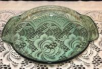 "Anchor Hocking Green Glass 9"" Deep Pie Plate"