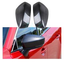 Carbon Fiber color Rearview Mirror Cover Trim For MAZDA 3 AXELA m3 2014 -2016