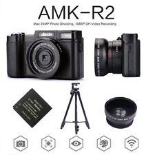 "AMKOV 3.0""24MP 1080P Portable Digital Cameras HD Camcorder DSLR Cameras+Lens"