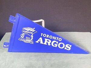 Vintage CFL Toronto Argos RARE Canadian Football League Pennant Plastic (#2)