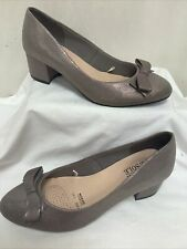 GOOD FOR THE SOLE Wide Fit Leather Court Shoes With Bow UK5 EU38 FREE P&P