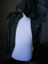 volcom double sided hoodie cotton gray and lime green stripes, XS or S?