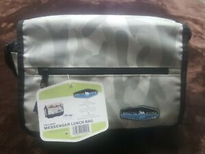 Arctic Zone Insulated Messenger Lunch Bag With Thermos strap ice pack 11x9x4