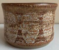 Small Round Vintage 60s Studio Pottery Stoneware Planter Mid Century Mod Deyoe