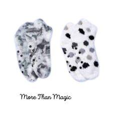 MORE THAN MAGIC Girls Cozy Super Soft Ankle Socks 2 Pairs Slipper Socks Size XS