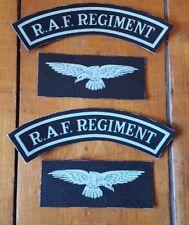 RAF Regiment Set reproduction printed badges WWII for Battledress