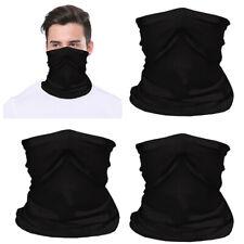 3x Black Tube Scarf Bandana Head Face Neck Gaiter Wear Cover Reusable Breathable