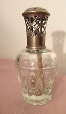 rare antique glass and ornate cut bronze French perfume burner scent bottle jar