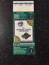 1993 World Series MLB Game 2 Ticket Stub Toronto Blue Jays Champions Skydome