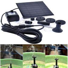 Solar Panel Powered Water Feature Pump Garden Pool Pond Aquarium Fountain 150L/H