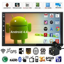 "7"" HD 2 Din Android Quad Core Car Stereo GPS MP5 Player Radio 3G Wifi FM+Camera"