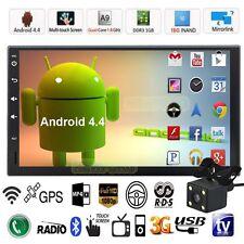 "7"" HD 2 Din Android Quad Core Car Stereo GPS MP5 Player Radio 3G Wifi FM+Camera"