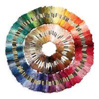 250 madejas de hilo para tejer punto de cruz bordado crochet multicolor T3H8