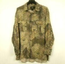 REDHEAD Mossy Oak Brush Camouflage Long Sleeve Button Up Down Shirt SZ 3XL