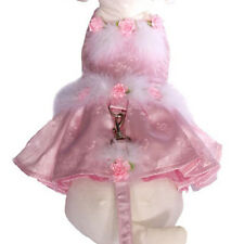 Dog Cha Cha Couture Pink Satin Harness Dress & Lead Set - Size Large