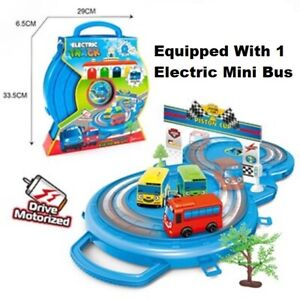 Tayo The Little Bus Set Electric Track Parking Lot Car Gift UK