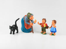 Hänsel und Gretel Hexe + Katze == 4 x Märchen Figuren f. Lebkuchen Hexenhäuschen