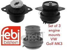 SET OF 3 FEBI ENGINE MOUNTS GOLF MK3 1.9TDI & 2.0 16V ABF INC GTI